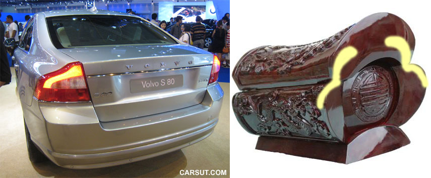 Volvo S80 and coffin