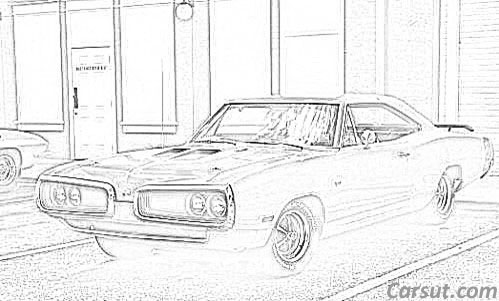 Muscle Car Drawings on old british sports cars