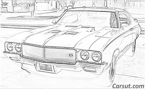 muscle car drawings
