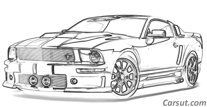Muscle Car Drawings | Carsut - Understand cars and drive better