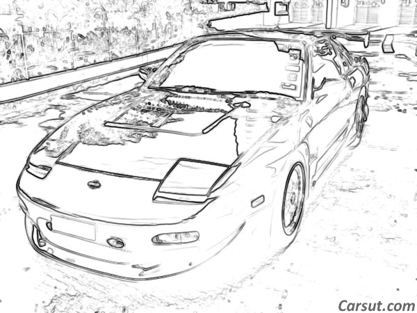 Nissan car drawing