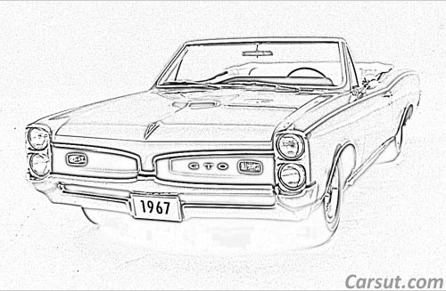 Pontiac GTO drawing