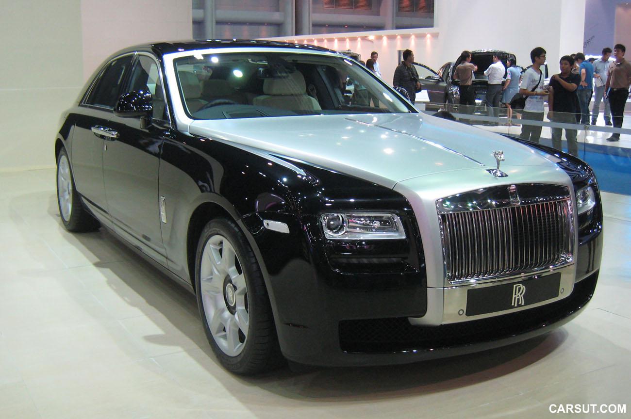 2012 bangkok motor show rolls royce ghost and phantom for Rolls royce phantom motor