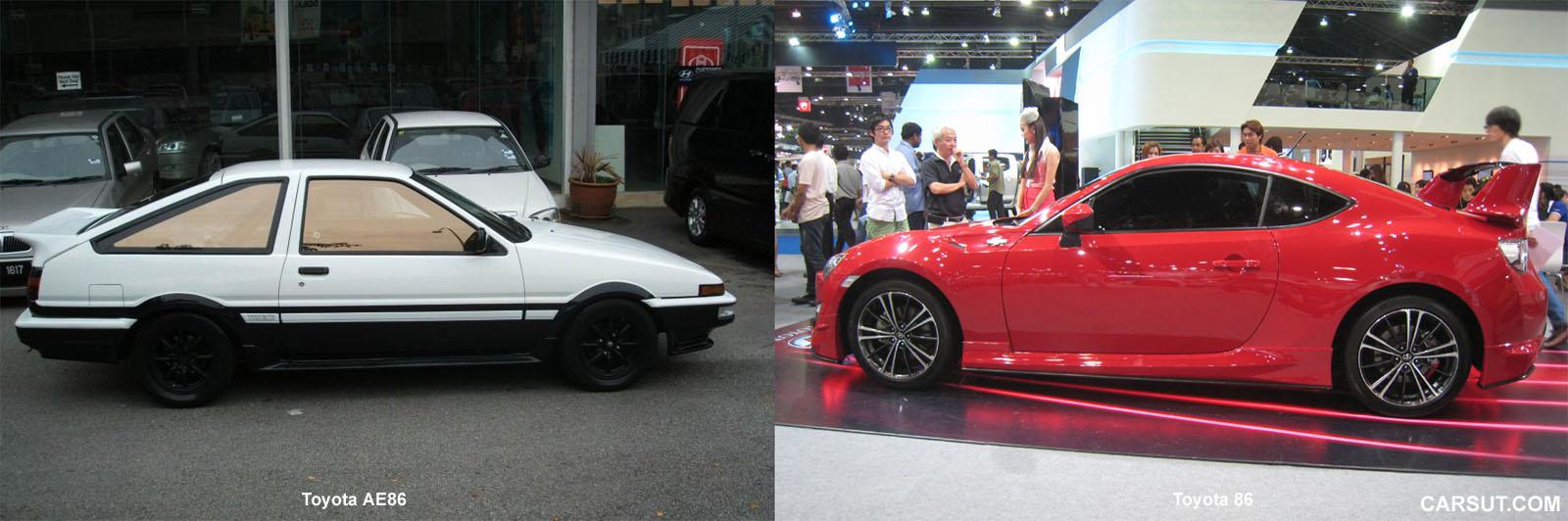 Toyota AE86 and Toyota 86