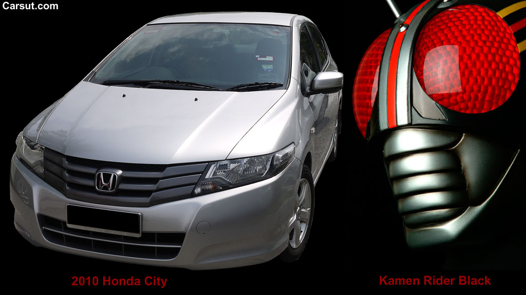 Honda City and Kamen Rider Black