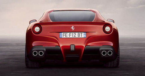 Ferrari F12 Berlinetta rear view