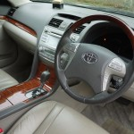 Toyota camry interior and steering