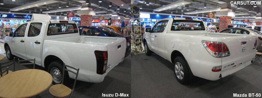 Isuzu D-Max vs Mazda BT-50