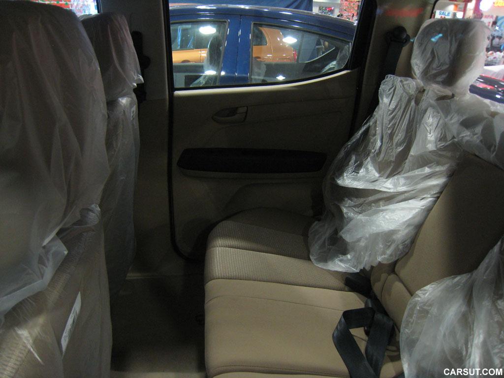 Isuzu D-Max rear seat