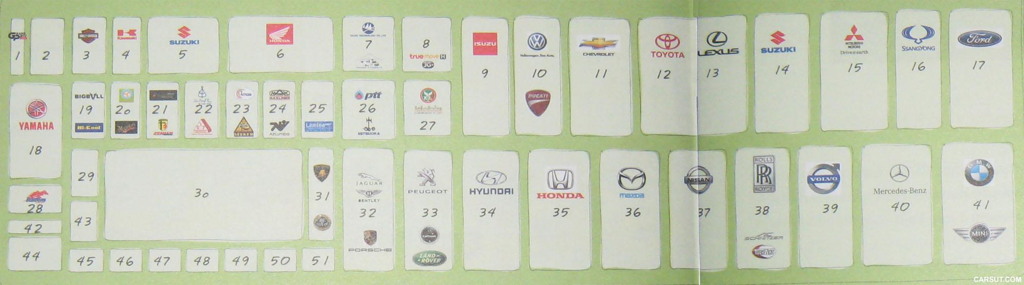 Bangkok Motor Show floor plan