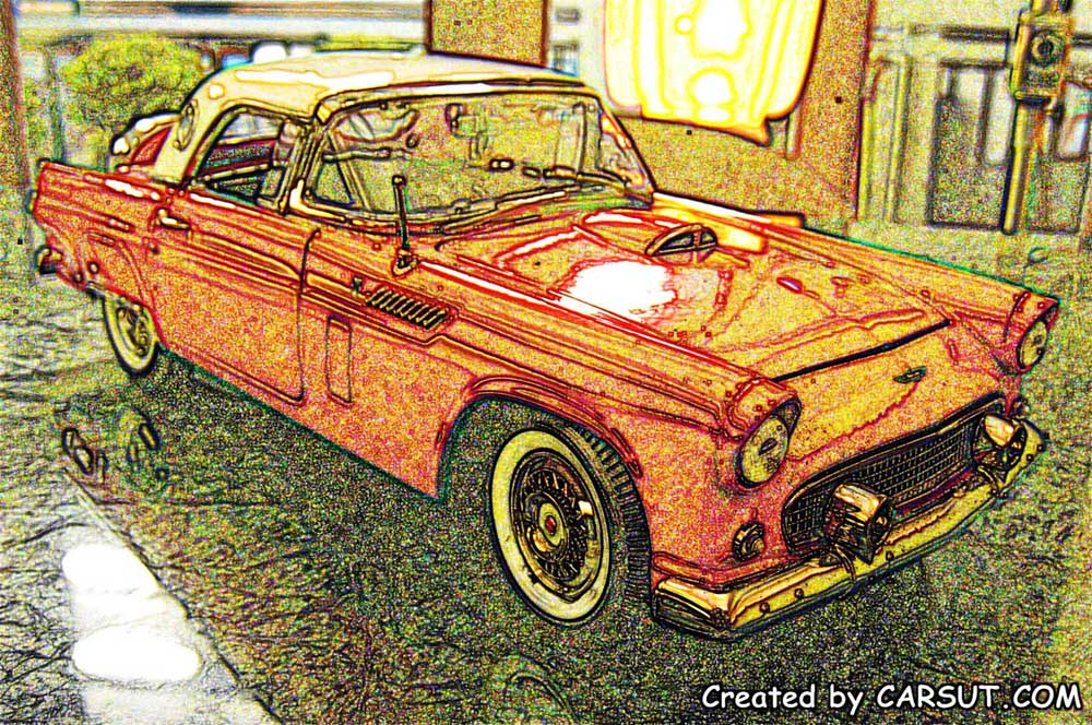 Muscle car art Ford Thunderbird