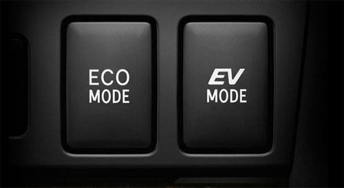 Toyota Camry hybrid Eco and EV Mode