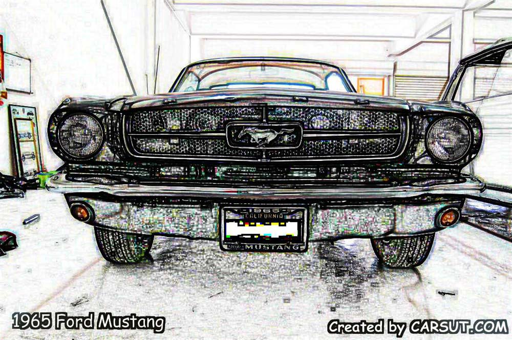 1965 Ford Mustang muscle car artwork