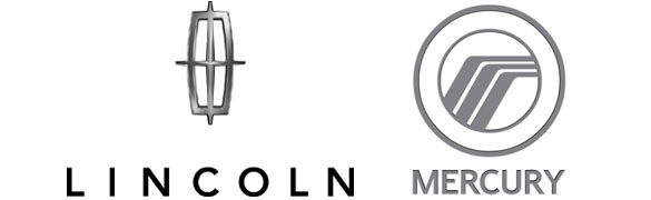 Lincoln logo Mercury logo