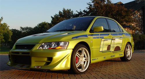 mitsubishi evo7 from 2 fast 2 furious
