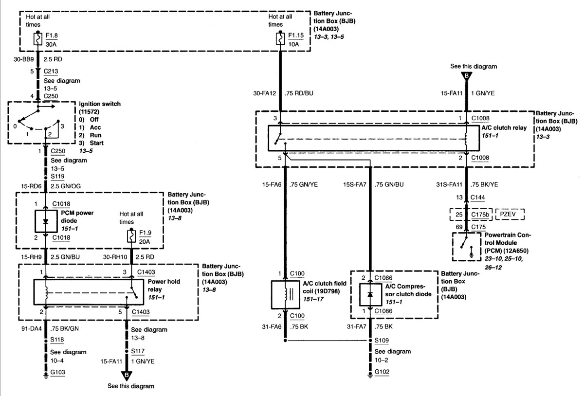 ford wiring diagram 2013 ford focus wiring diagram 2003 focus wiring diagram \u2022 free 2008 Ford F-250 Wiring Diagram at crackthecode.co