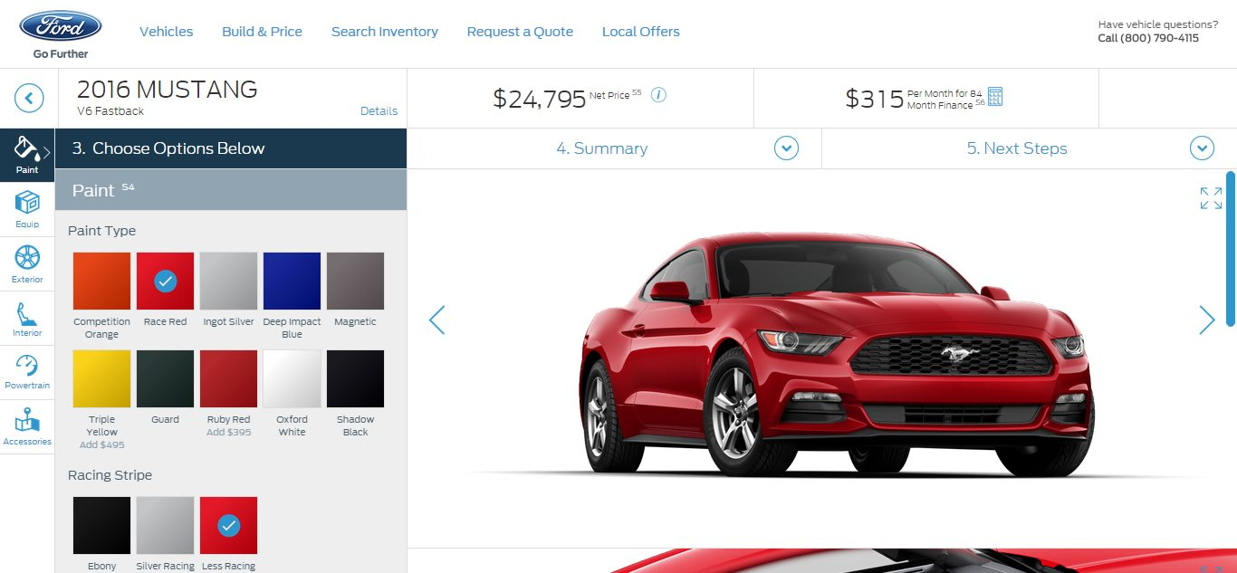 Customize your own ford online autos post Custom car designer online