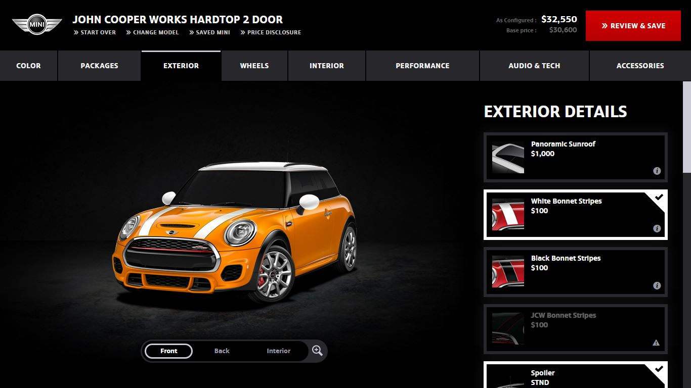 customize your own MINI Cooper