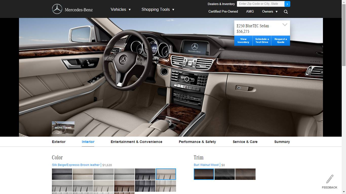design your own custom Mercedes Benz