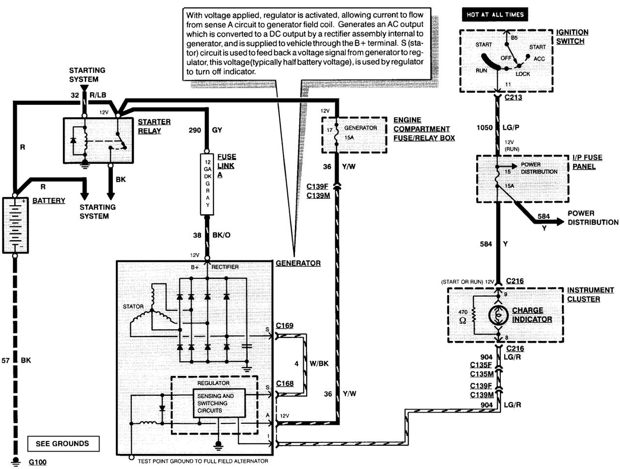 ford alternator wiring diagrams Dodge Dakota Wiring-Diagram Internal Regulator Alternator