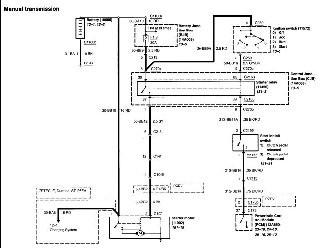 Ford Alternator Wiring Diagram: 2000 Mustang Alternator Wiring Diagram At Gundyle.co