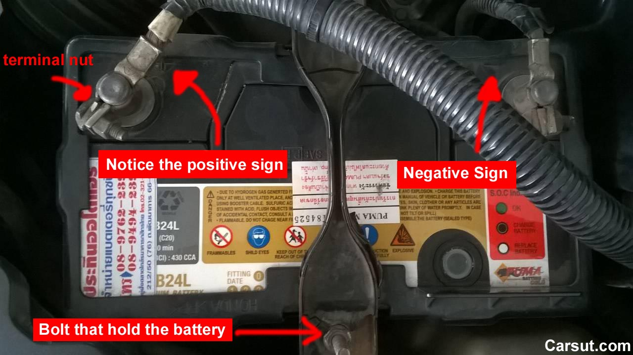 Disconnect a car battery