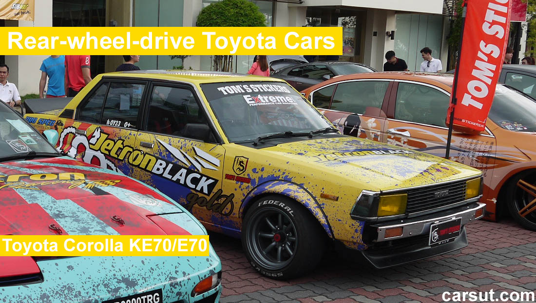 List of Rear-wheel-drive Toyota Cars