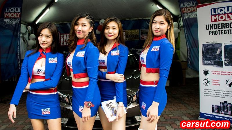 cute asian car show girls